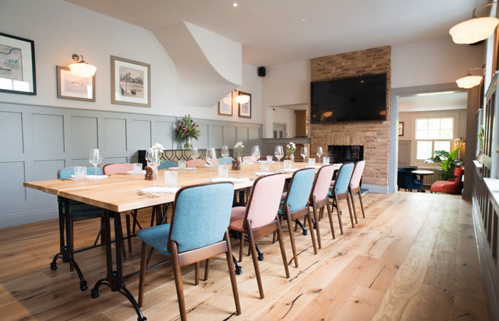 Private function rooms for hire at the anglers pub and restaurant teddington
