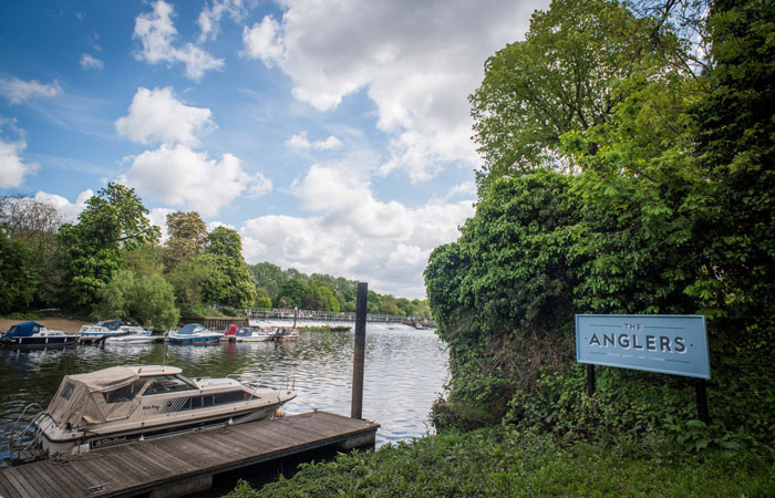 The Anglers dock in Teddington