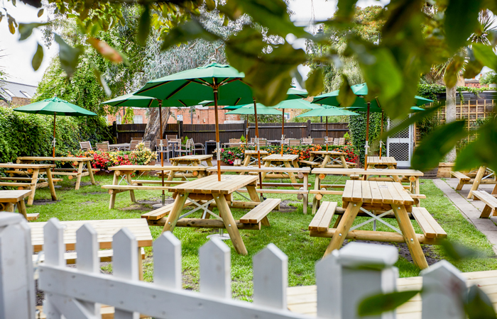 The Rose and Crown beer garden Ealing