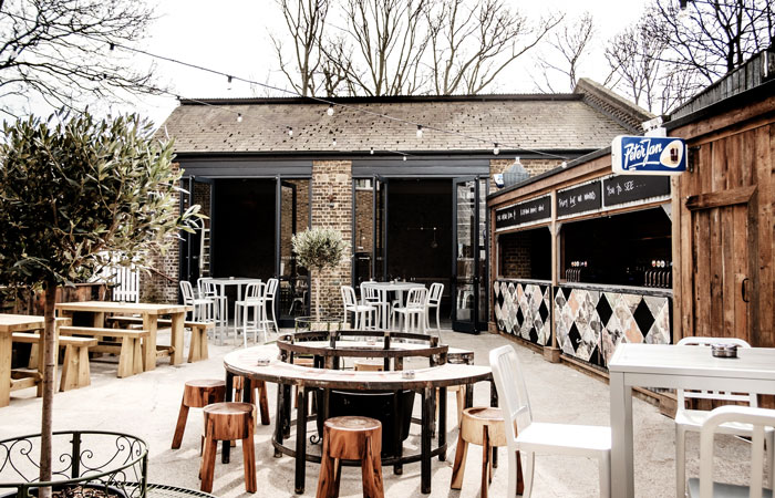 The Half Moon garden bar Herne Hill London