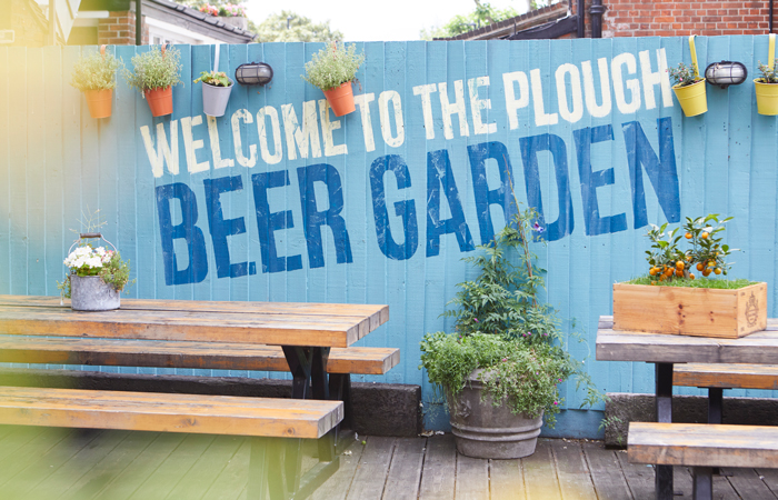 The Plough Inn beer garden London