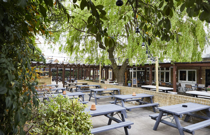 The Prince Blucher Twickenham beer garden and garden bar