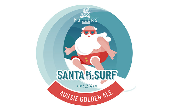 Santa by the Surf ale by Fuller's