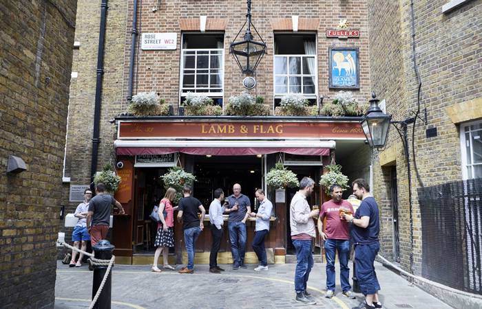 Good value pub Lamb and Flag Covent Garden
