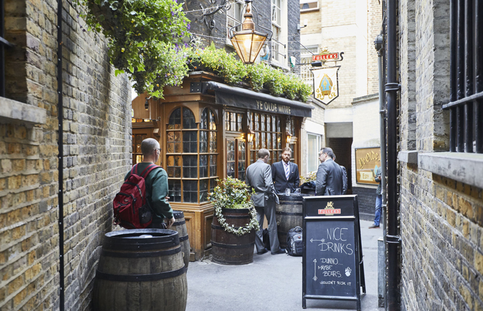 Ye Olde Mitre London best value pub food uk