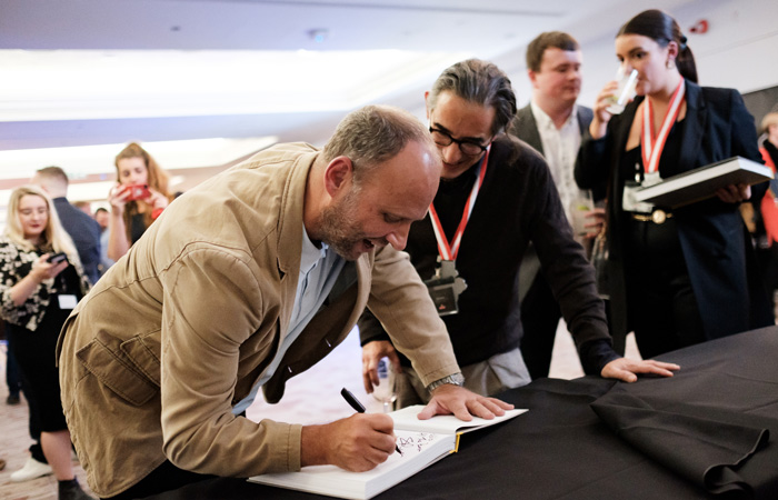 Fuller's Graduation Ceremony 2019, Twickenham Stadium Simon Rogan book signing