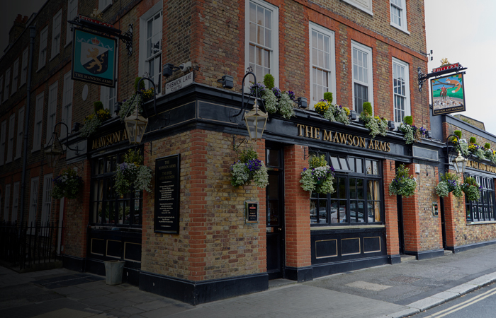 Alexander Pope's old home The Mawson Arms Chiswick