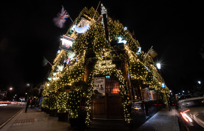 What makes The Churchill Arms the UK's most festive pub
