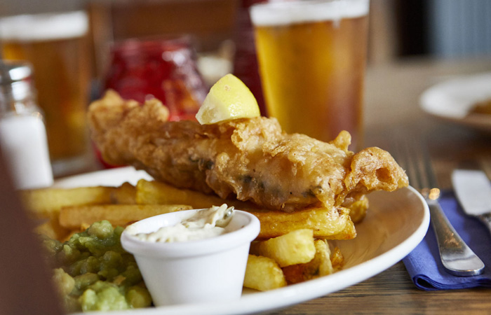 Best Fish and Chips in London at The Red Lion, Mayfair