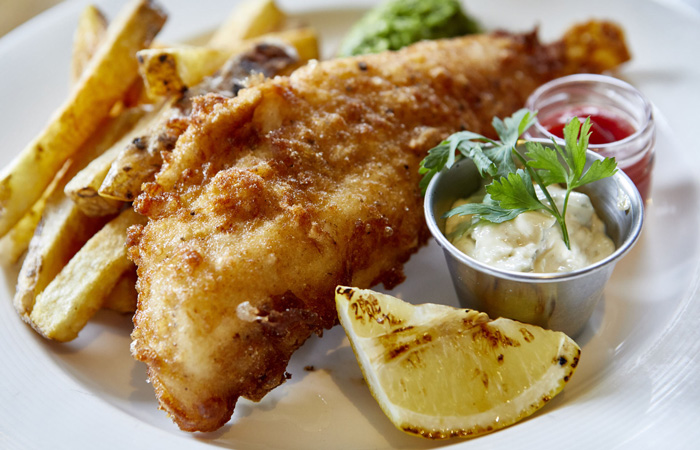 Best Fish and Chips in London from The Antelope pub