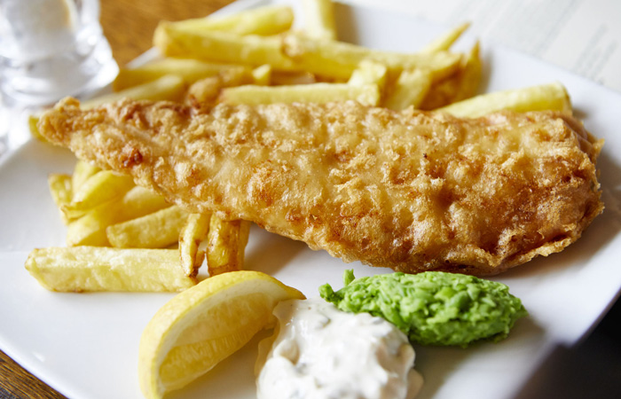 Best Fish and Chips in London from The Mawson's Arms Chiswick