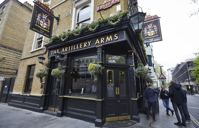 London's best Fish and chips from The Artillery Arms in London