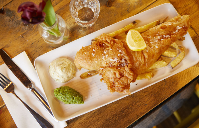 The best fish and chips in London from the Artillery Arms Old Street