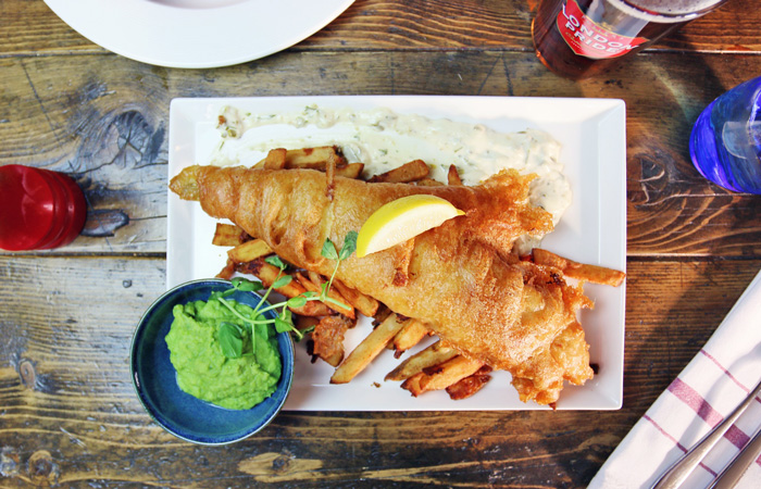 Best Fish and Chips in London from The Hereford Arms