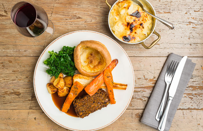 Vegan dishes to try for Veganuary - vegan nut roast with yorkshire pudding
