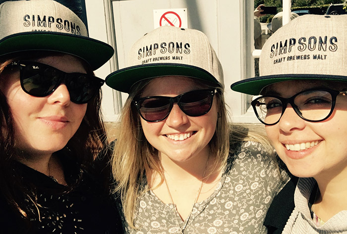 Jo, Suzie and Claire rocking Simpsons Merch.