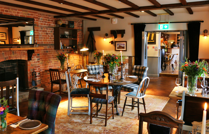 The Hind's Head dining room best Valentine's Day pubs in England.