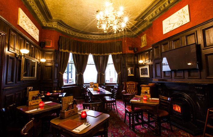 The Old Joint Stock dining room best Valentine's Day pubs in England.