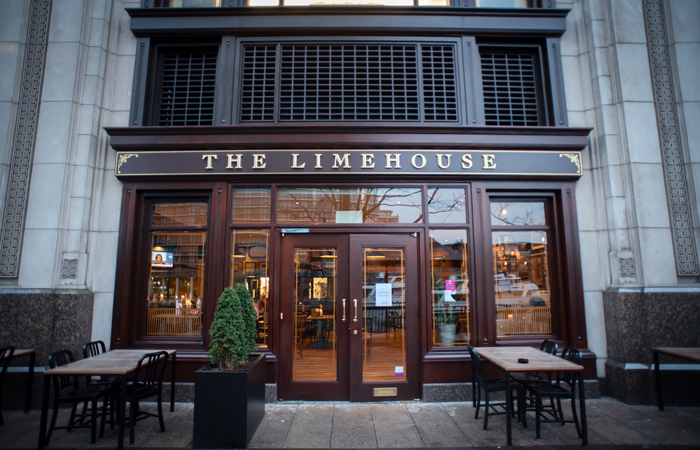 The Limehouse Bar and Restaurant Canary Wharf exterior