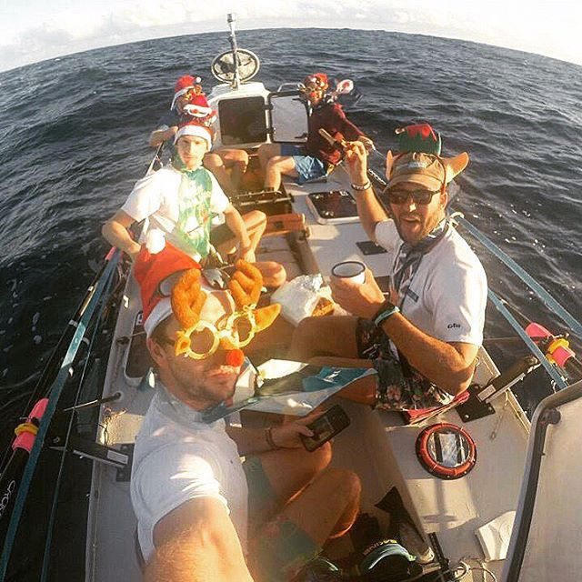Men of Oar team spend Christmas on the Atlantic ocean
