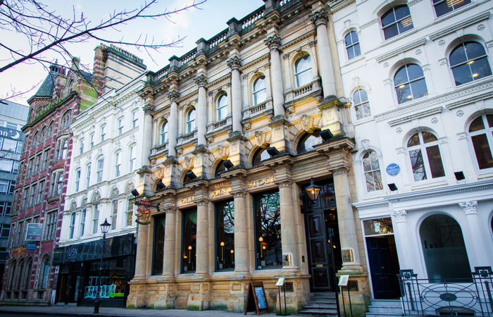 Exterior of the Old Joint Stock pub Birmingham
