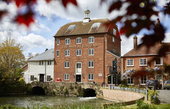 Winter wedding venue The Mill at Elstead, Surrey