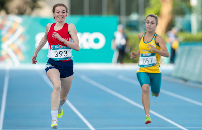 Special Olympics GB Athlete Hetty Bartlett in Athletics.