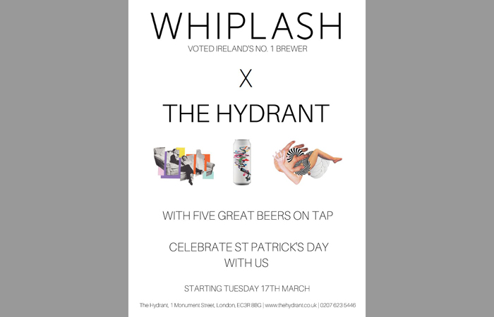 St Patrick's day event at The Hydrant, Monument in London