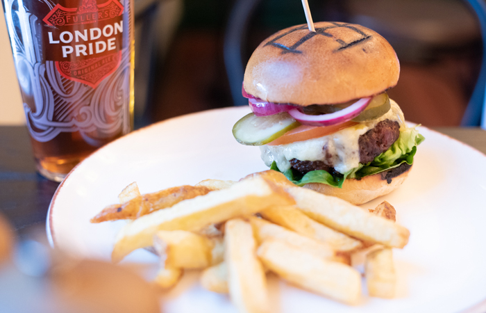 Burgers at The Telephone Exchange Bar and Pub London Bridge