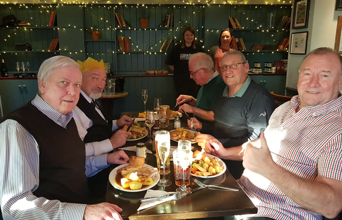 The Ash Tree pub, Ashford, hosts Christmas party for local elderly
