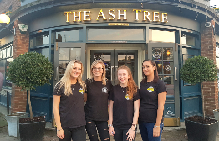 The Ash Tree pub volunteers help host Christmas lunch for elderly