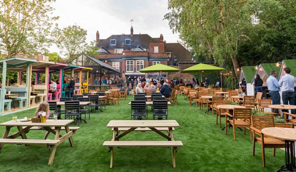 Best pubs with beer gardens in london