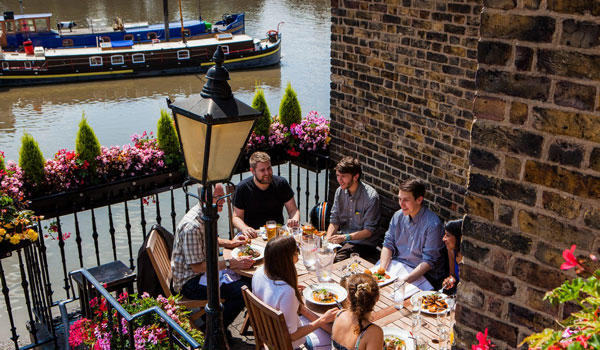 Riverside pubs in London